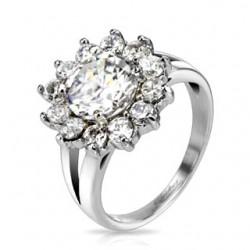 Nemesacél Gyűrű Gyémánt Utánzattal