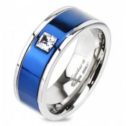 Kék Titánium Karikagyűrű Cirkóniával