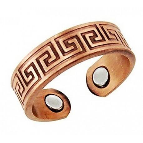 Állítható Mágneses Rézgyűrű Görög Mintás