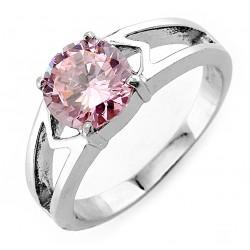 Nemesacél Gyűrű Rózsaszín Cirkóniával