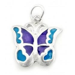 Ezüst Zománcozott Pillangó Medál