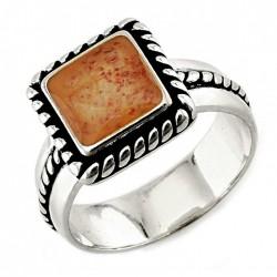 Ezüst Gyűrű Drágakő Berakással