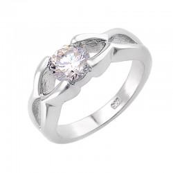 Ezüst Női Gyűrű 6MM Cirkóniával